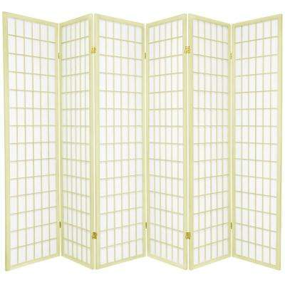 6 ft. Ivory Window Pane 6-Panel Room Divider