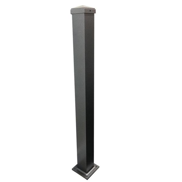 3 in. x 3 in. x 44 in. Silver Vein Aluminum Post with Welded Base