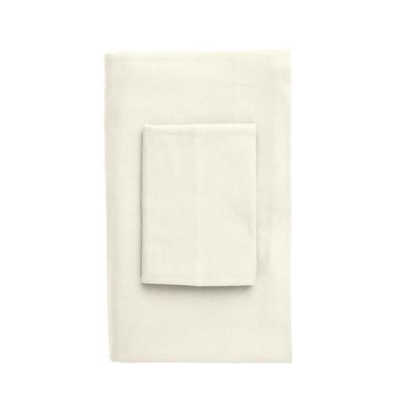 The Company Store Velvet Flannel Ivory Twin XL Fitted Sheet EU29-TXL-IVORY