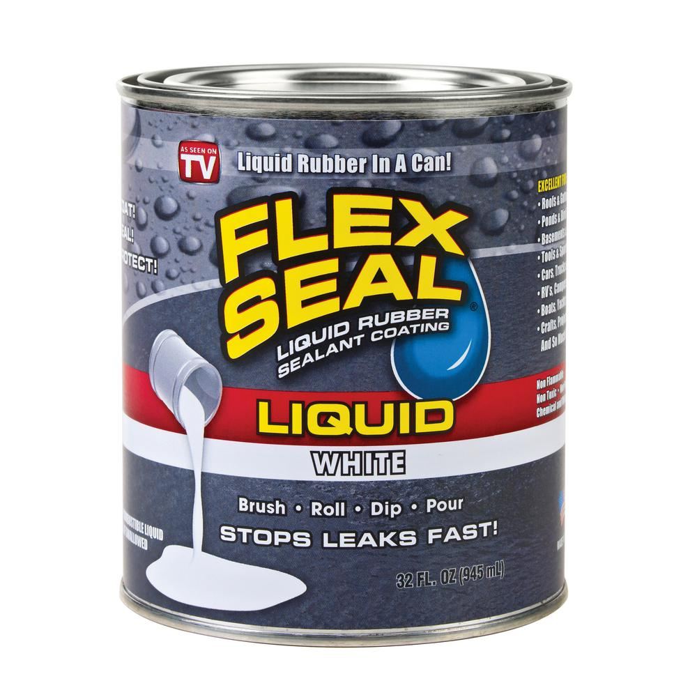Flex Seal Liquid 1 qt  White Liquid Rubber Sealant Coating