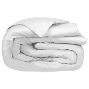 A1HC GOTS Certified White King Organic Cotton Percale Weave, 300TC, Single Ply Duvet Cover
