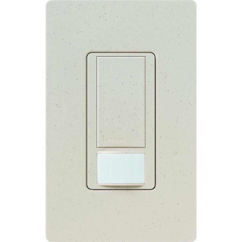 Maestro Dual Voltage Vacancy Sensor switch, 6-Amp, Single-Pole, Limestone
