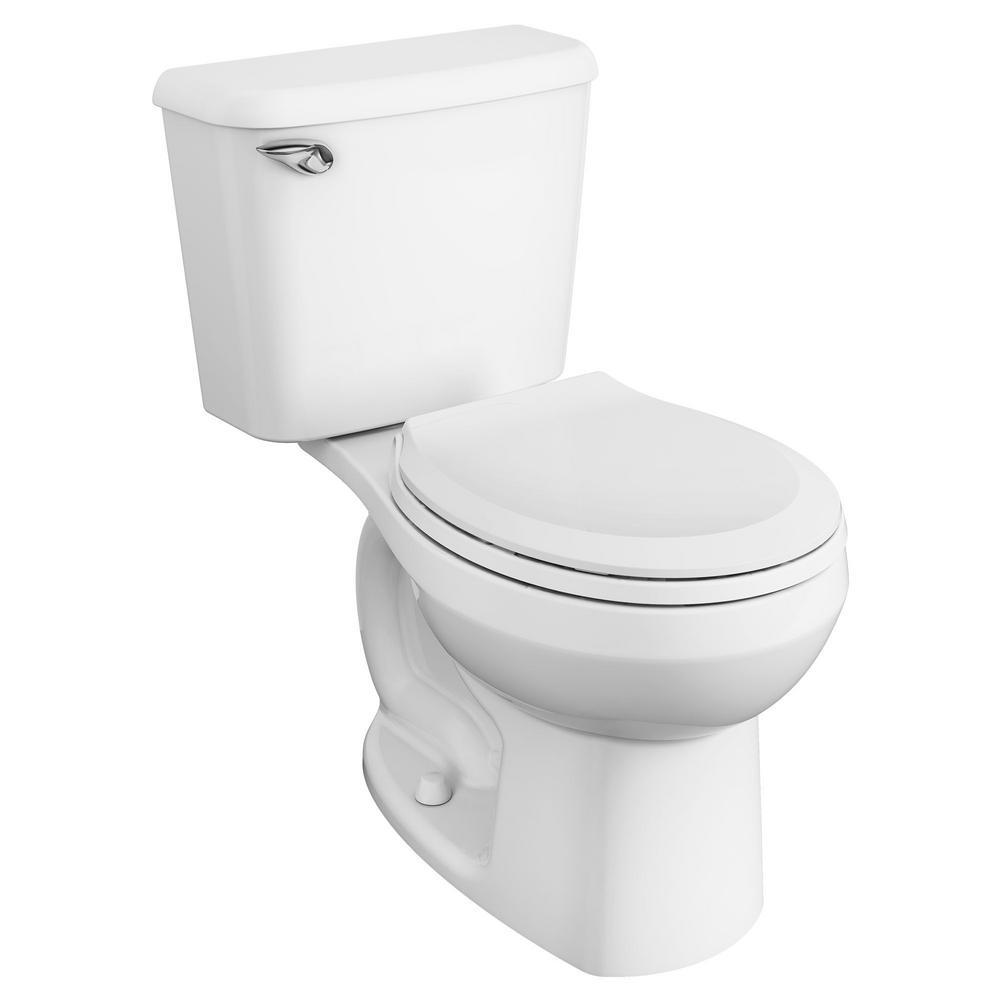 AmericanStandard American Standard Reliant 10 in. Rough-In 2-Piece 1.28 GPF Single Flush Round Toilet in White