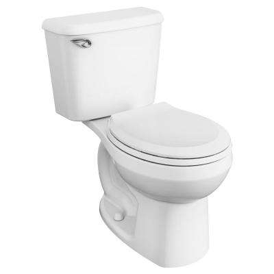 Reliant 10 in. Rough-In 2-Piece 1.28 GPF Single Flush Round Toilet in White, Seat Included
