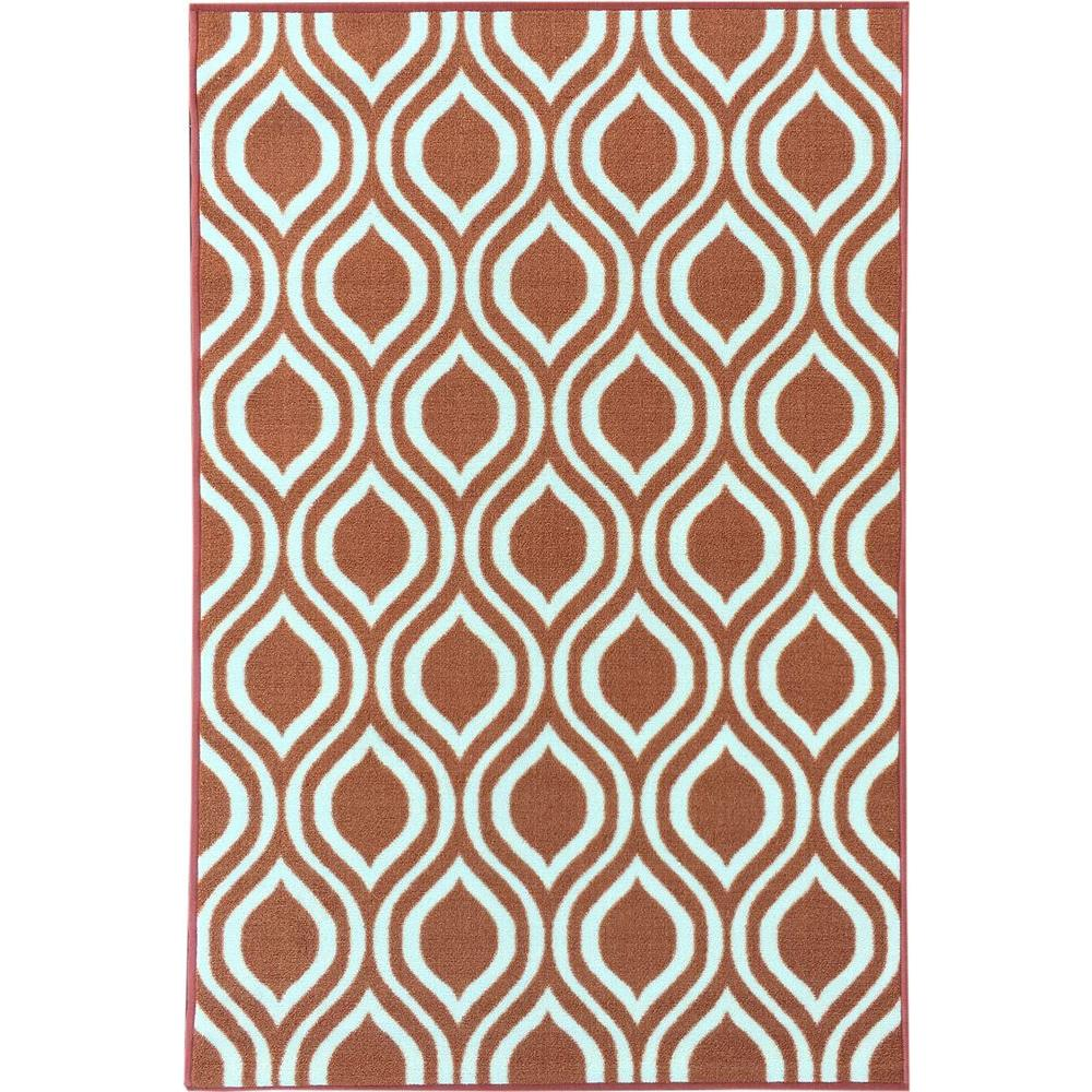 Rose Collection Contemporary Moroccan Trellis Design Orange 3 ft. 3 in.