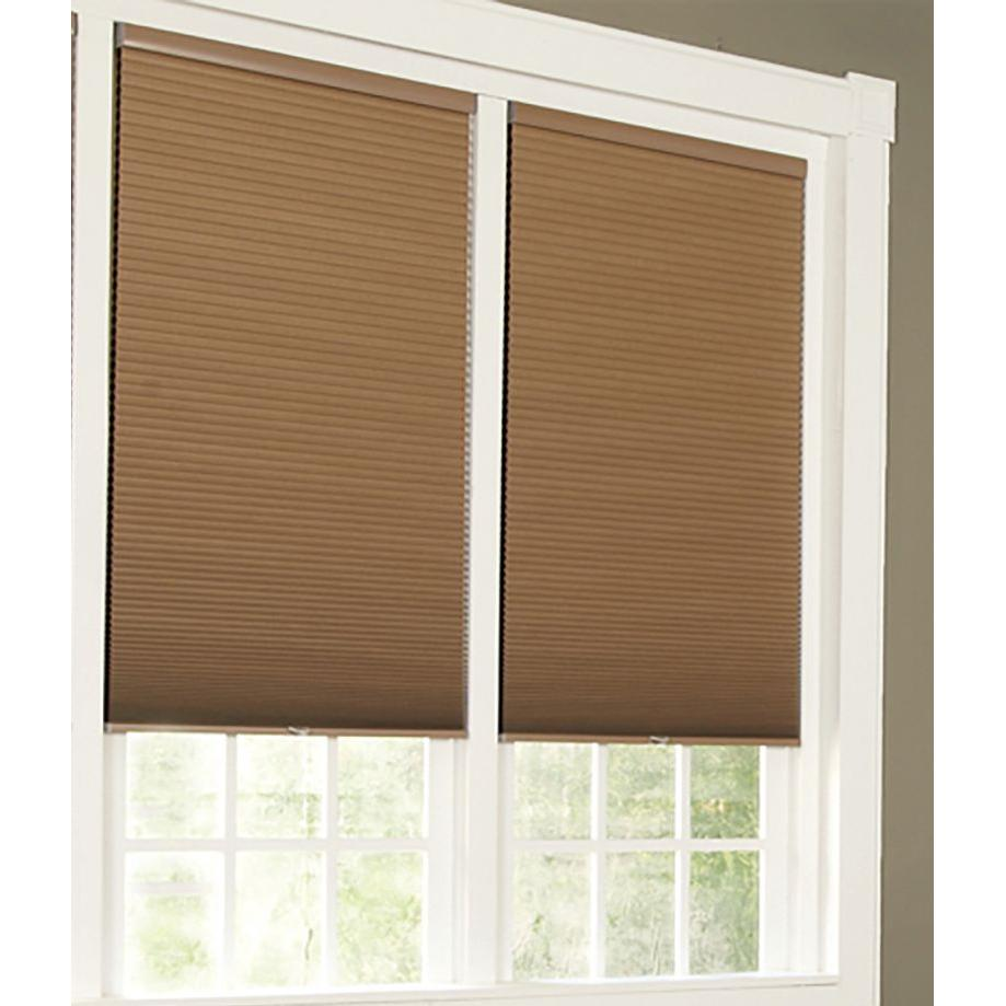 Perfect lift window treatment linen white cordless for Linen shades window treatments