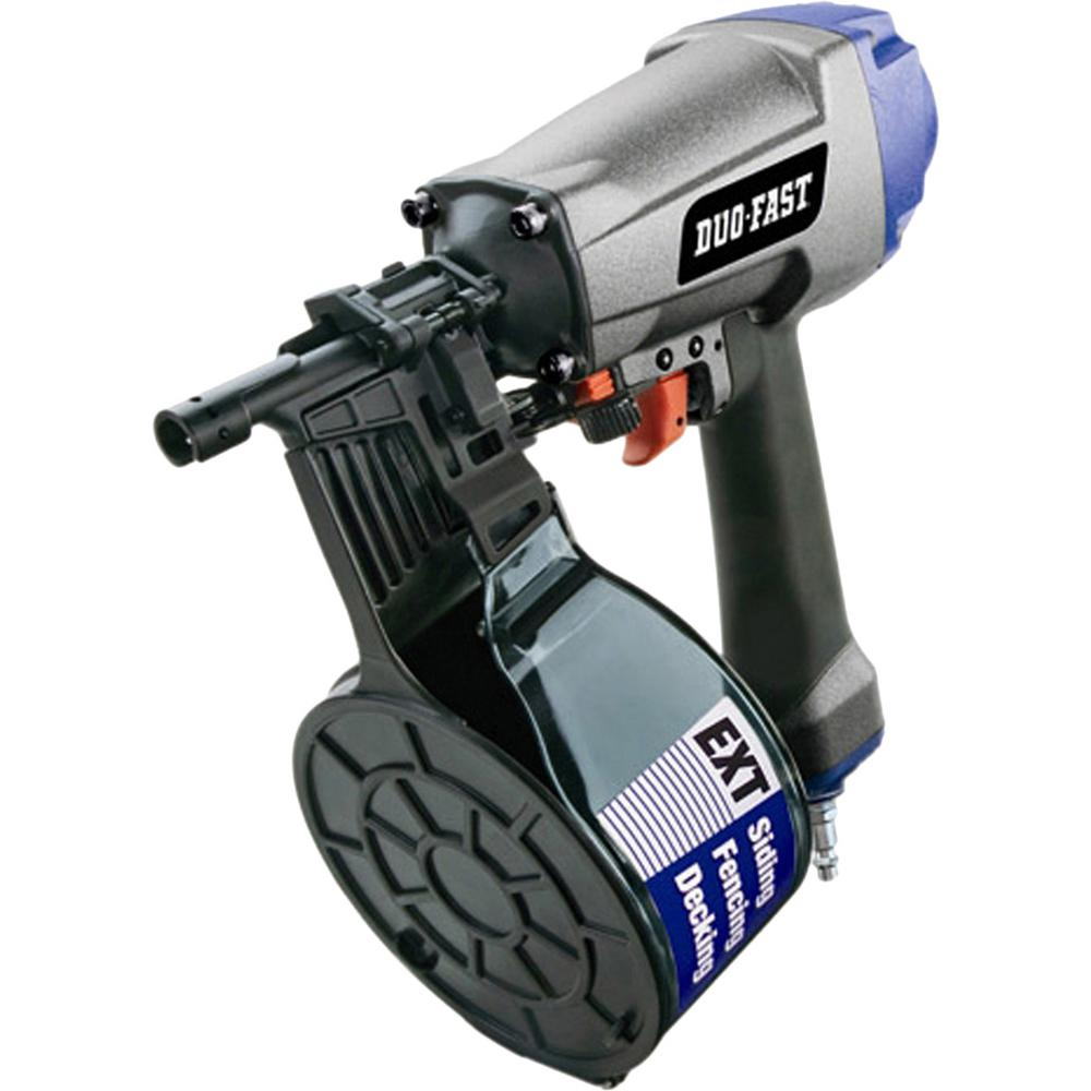 Duo Fast Df225c Pneumatic 0 Degree Coil Siding Nailer 502950 The Home Depot