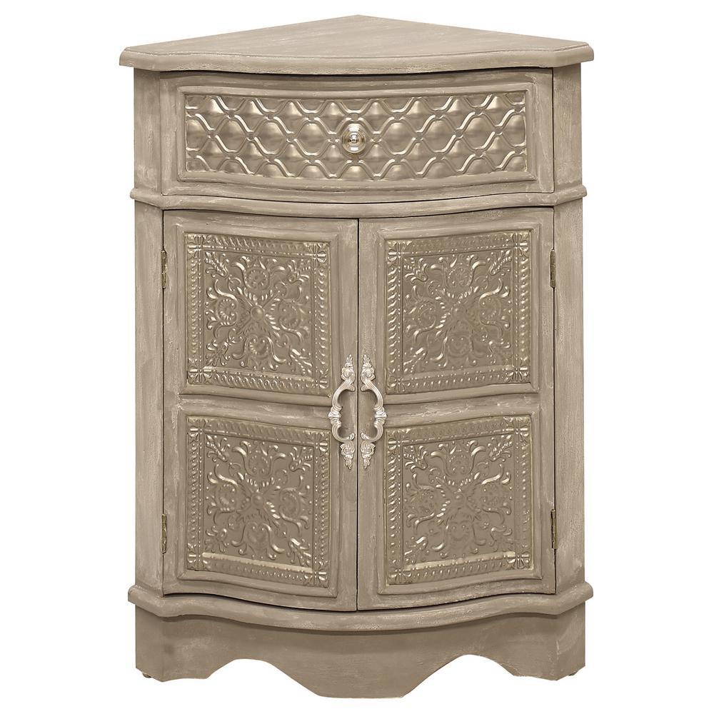 Grey Corner Cabinet