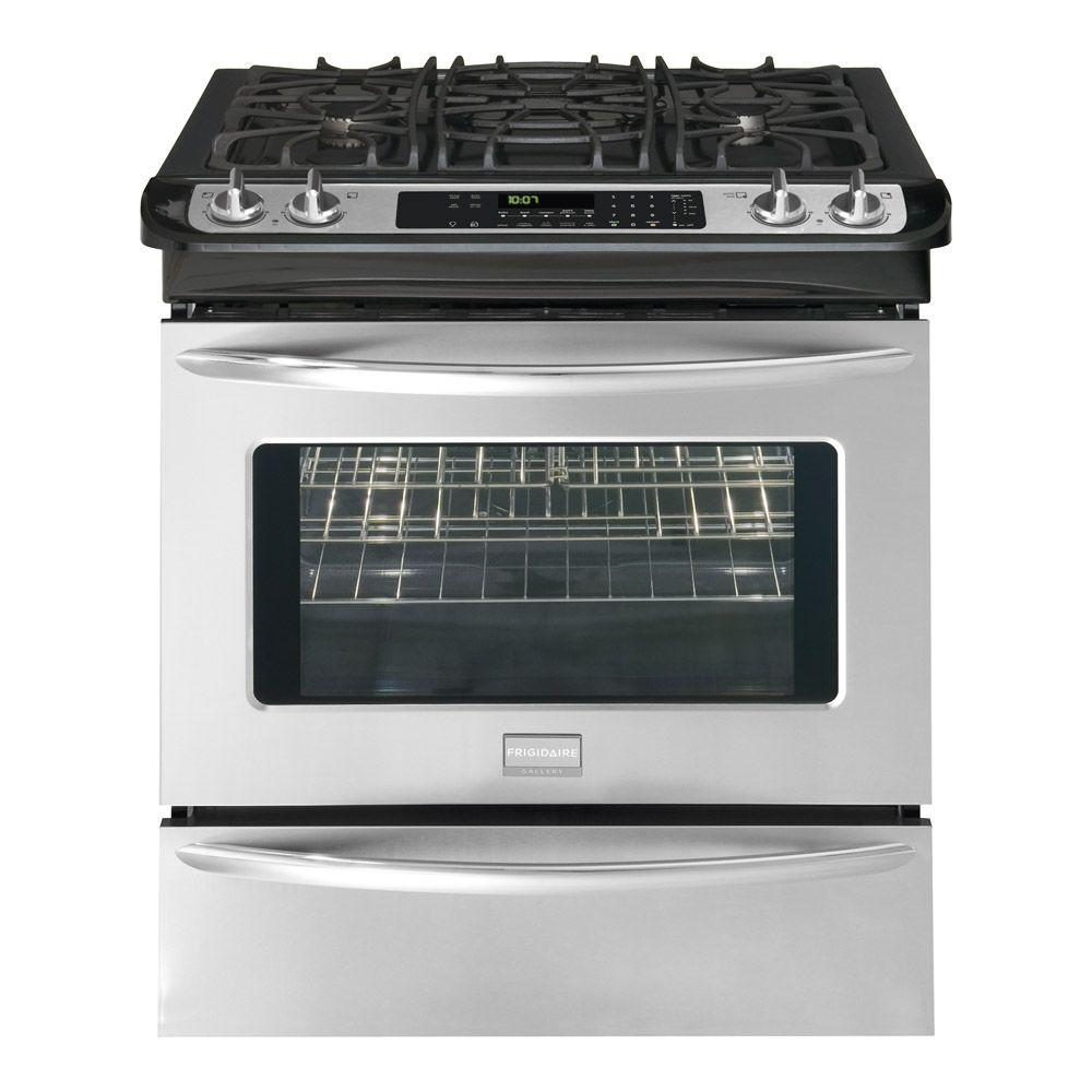 Frigidaire 4.2 cu. ft. Slide-In Dual Fuel Range in Stainless Steel-DISCONTINUED