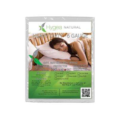 Hygea Natural Bed Bug Box Spring Cover or Mattress Cover : VINYL : Waterproof Box Spring Encasement - Size XL Twin