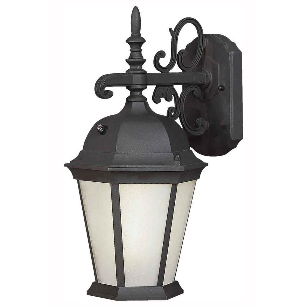 Forte Lighting Burton 1-Light Black Outdoor Fluorescent