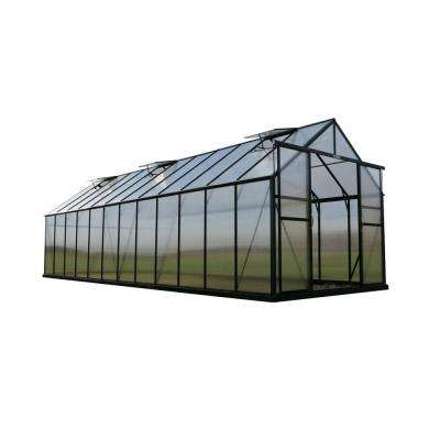 Ascent 8 ft. W x 24 ft. D x 8 ft. H Heavy-Duty Aluminum Greenhouse Kit