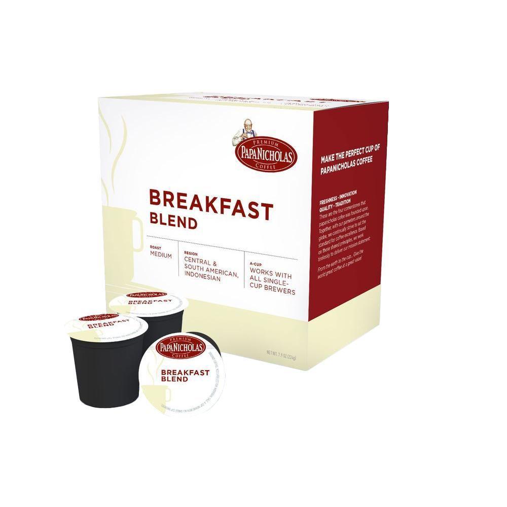 PapaNicholas Breakfast Blend Coffee (72-Cups per Case)