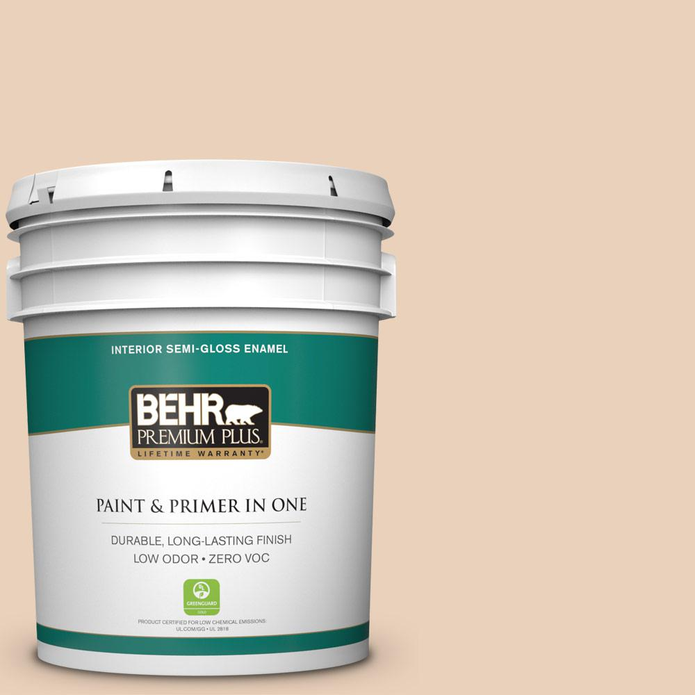 BEHR Premium Plus 5-gal. #T14-2 South Peach Semi-Gloss Enamel Interior Paint