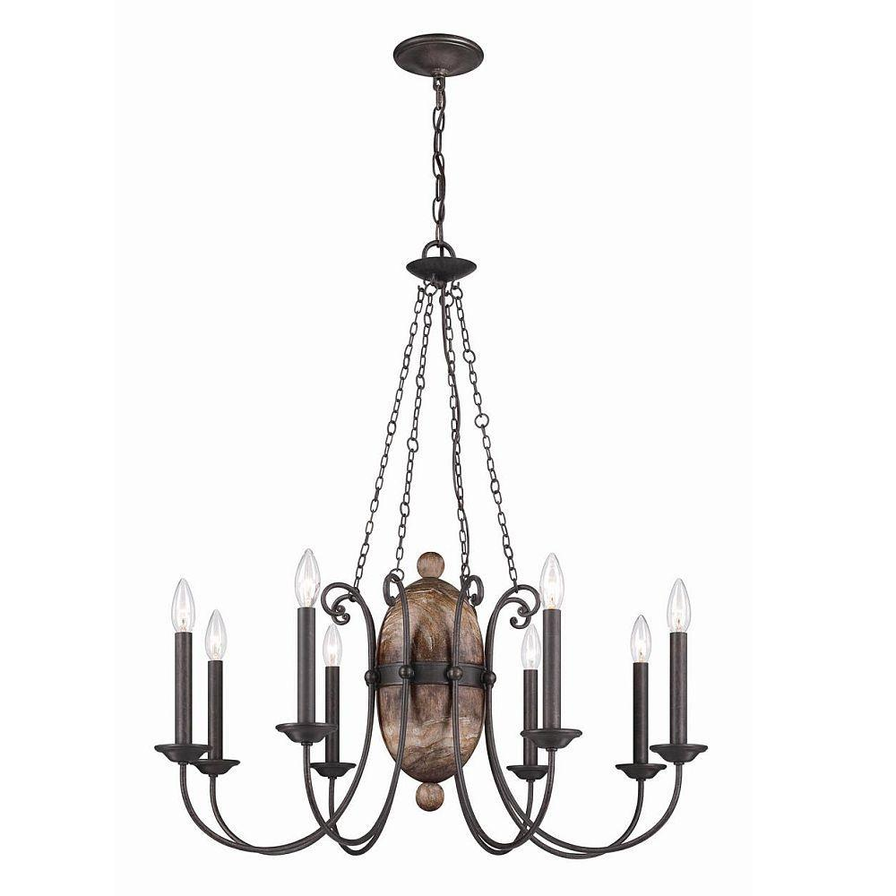 Albero Collection 8-Light Forged Iron Chandelier
