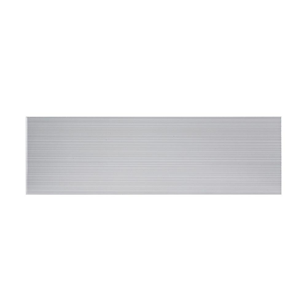 Jeffrey Court Moonlight Gray 6 in. x 20 in. Glossy Ceramic Wall Tile