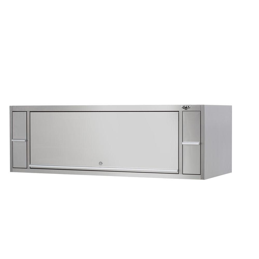 Viper Tool Storage PRO 72 in. 2-Drawer Hutch in Stainless Steel