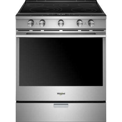 6.4 cu. ft. Smart Slide-in Electric Range with Scan-to-Cook Technology in Stainless Steel