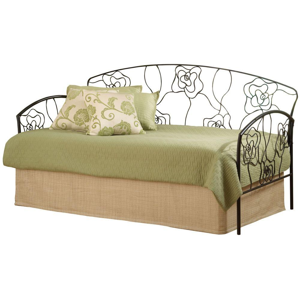 Hillsdale Furniture Rose Twin Size Daybed in Aged Steel Finish - DISCONTINUED