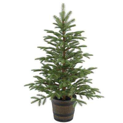 4 ft. Norwegian Spruce Entrance Artificial Christmas Tree with Clear Lights