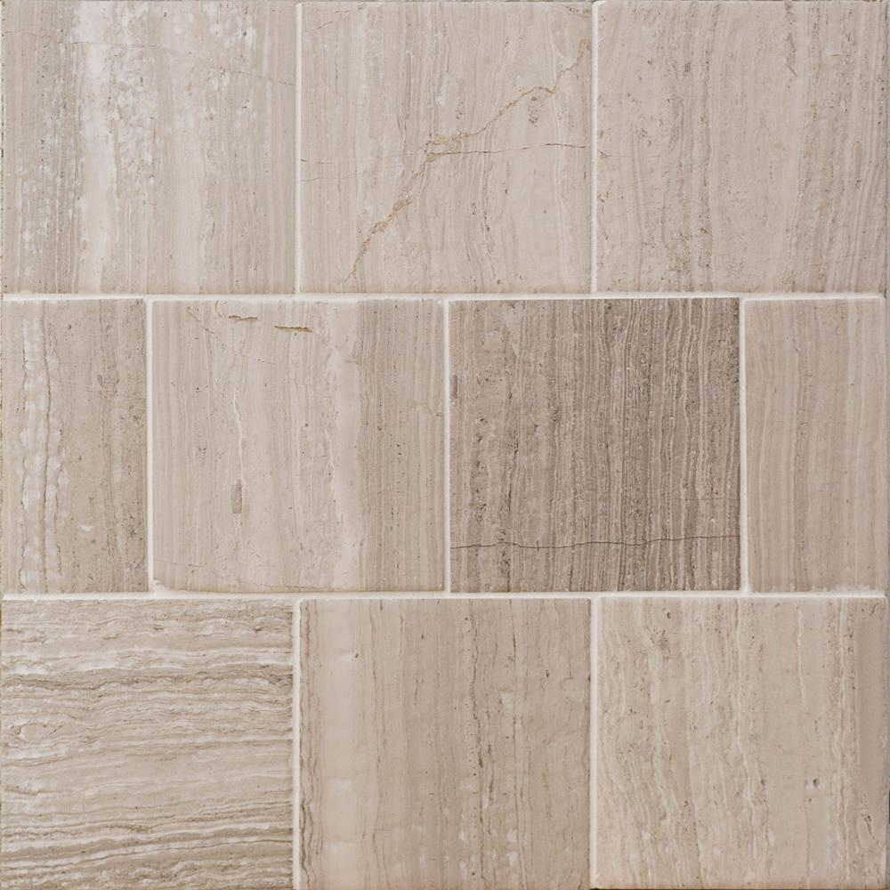marble tile floor texture. Brushed Wooden Beige 4 in  x Marble Floor and Wall Tile Shower floor Natural Stone The Home Depot