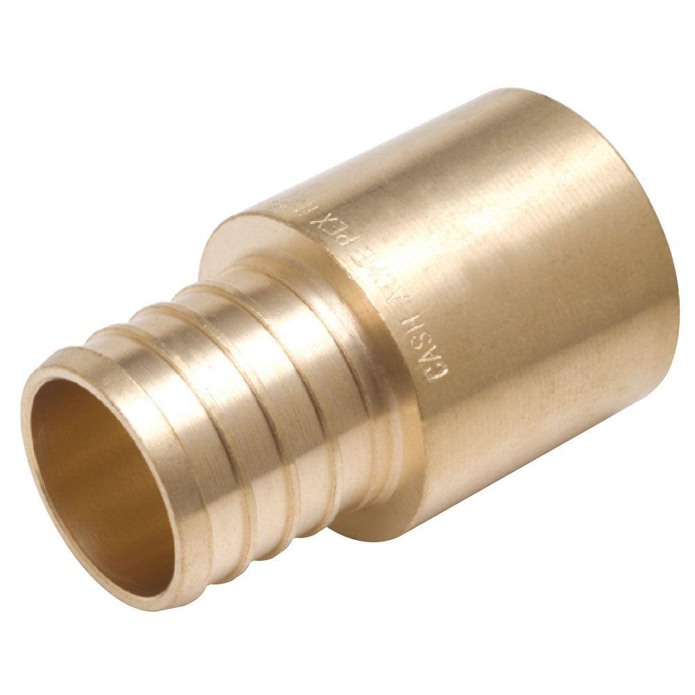 Sharkbite 1 in brass pex barb x male copper sweat adapter for Copper pipe cost