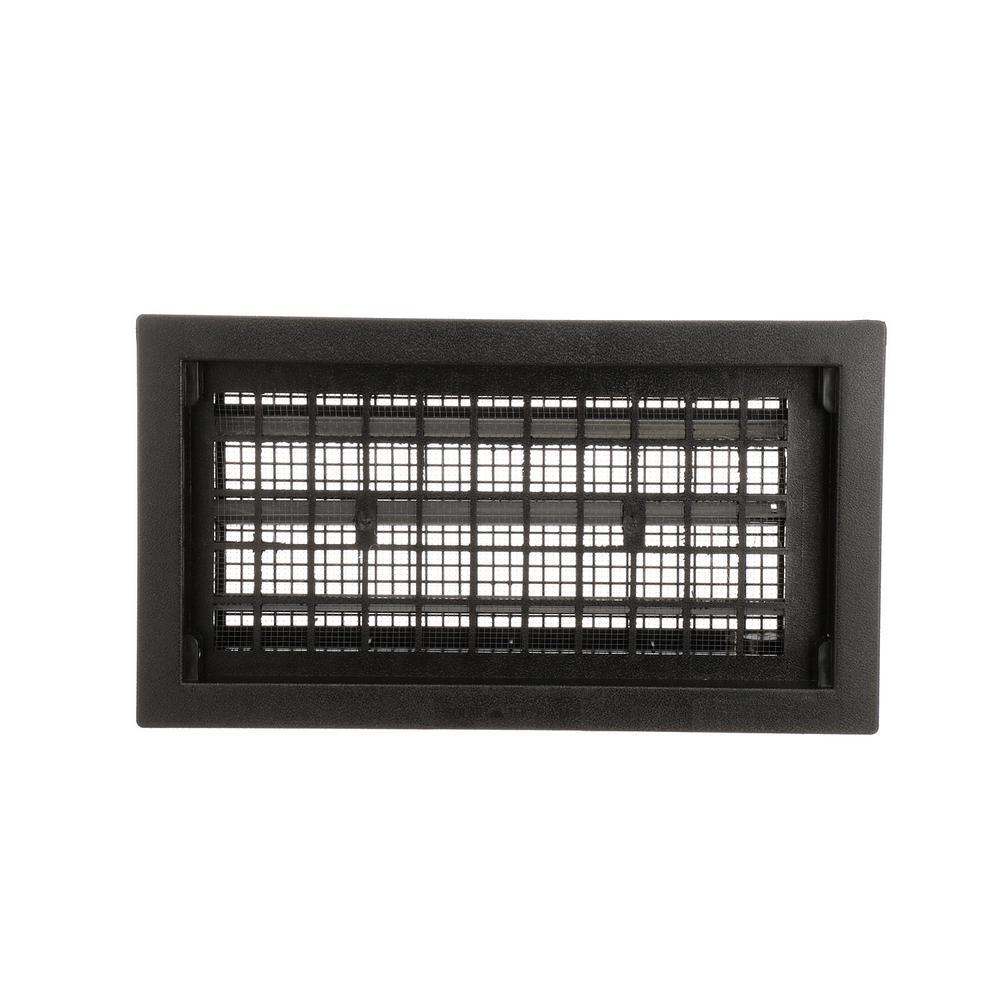 16 in. x 8 in. Automatic Foundation Vent in Black (10 Vents per Carton)