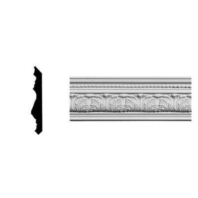 4-5/8 in. x 3-3/4 in. x 94-5/8 in. Polyurethane Palmetto Crown Moulding