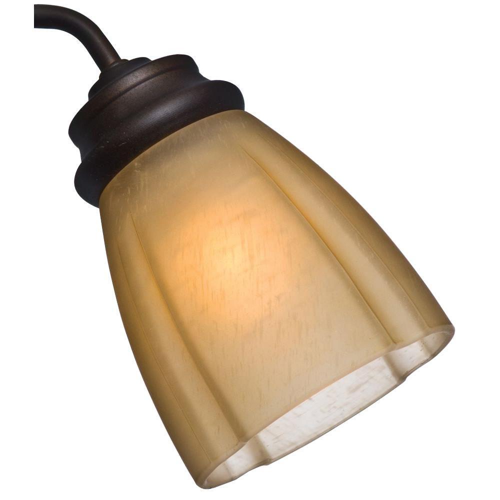 2-1/4 in. Ribbed Deco Toffee Socket Glass Ceiling Fan Light (4-Set)