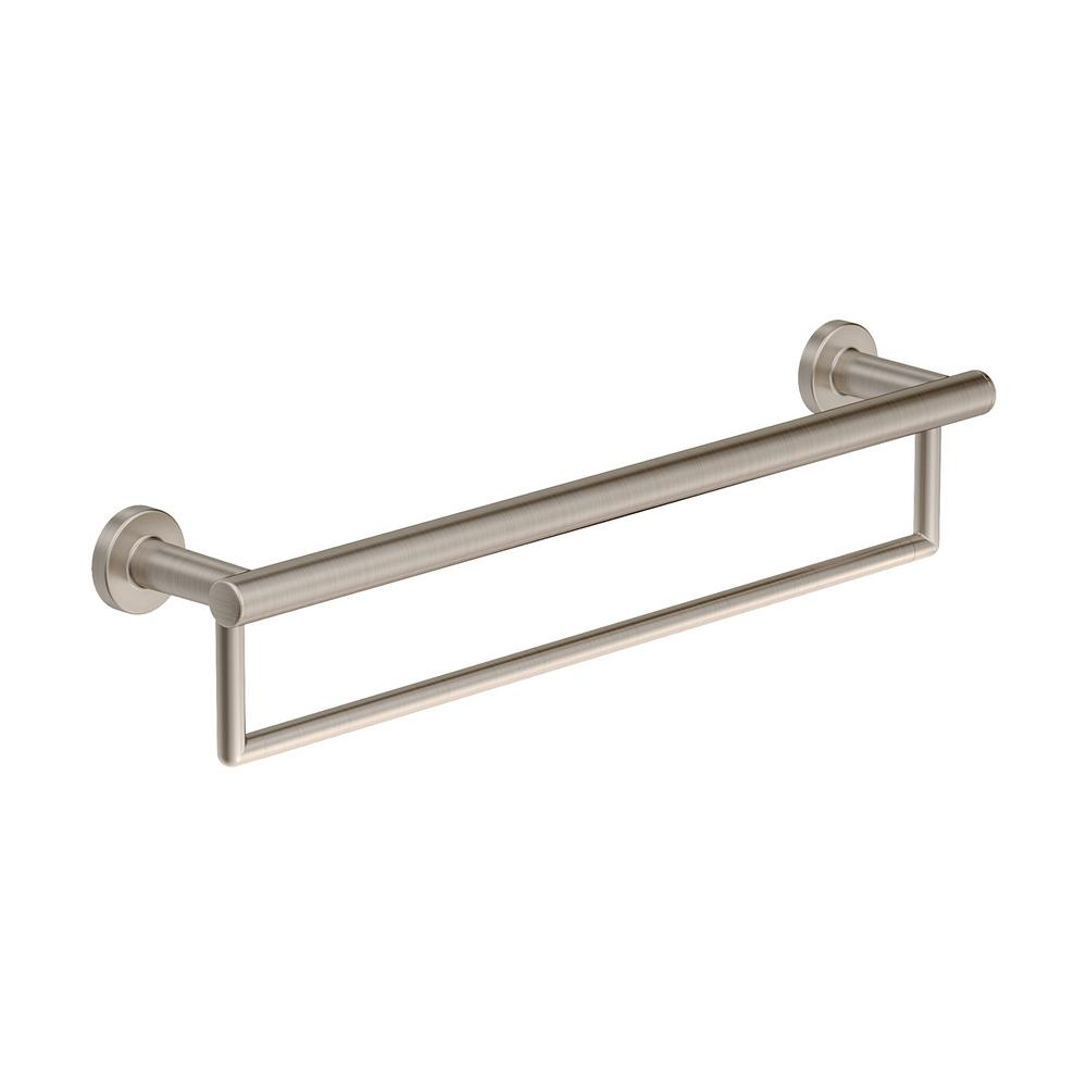 Symmons Dia 18 In Wall Mounted Towel Bar Satin Nickel