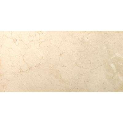Marble Crema Marfil Plus Honed 11.81 in. x 23.62 in. Marble Floor and Wall Tile