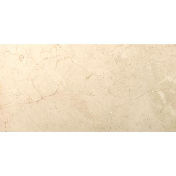 Marble Crema Marfil Plus Honed 11.81 in. x 23.62 in. Marble Floor and Wall Tile (2 sq. ft.)