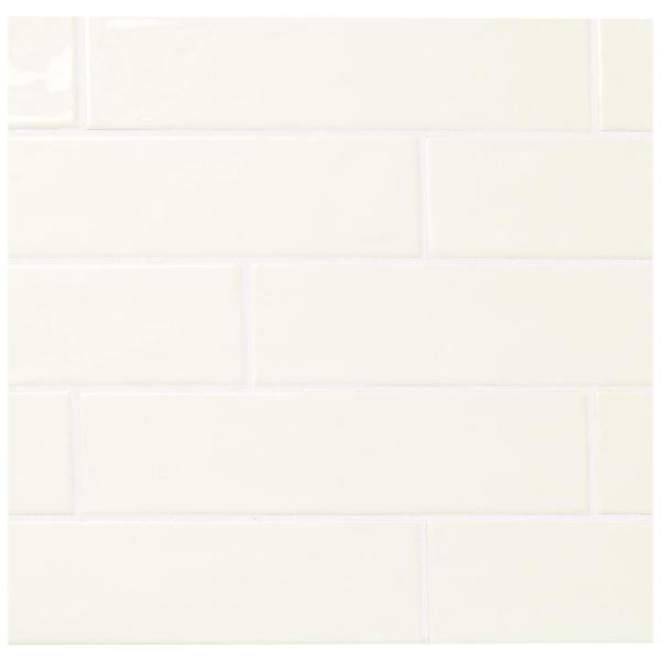 LuxeCraft White 3 in. x 12 in. Glazed Ceramic Subway Wall Tile (12 sq. ft. / case)