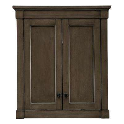 Rosecliff 28 in. W x 30 in. H Wall Cabinet in Distressed Grey