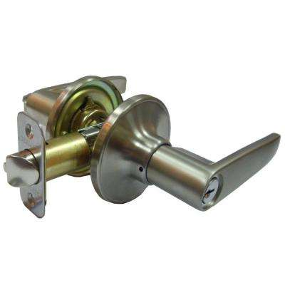 Straight Stainless Steel Entry Lever