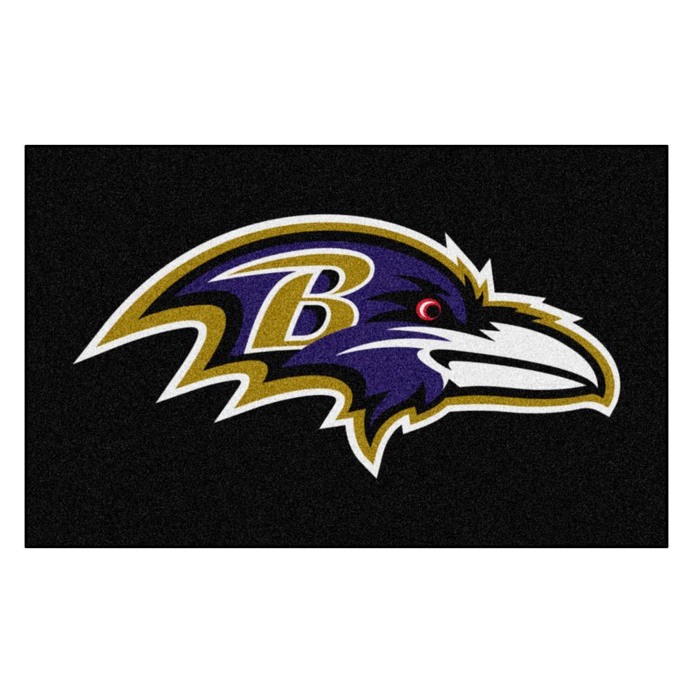 NFL 8 ft.x 5 ft. Baltimore Ravens Rug