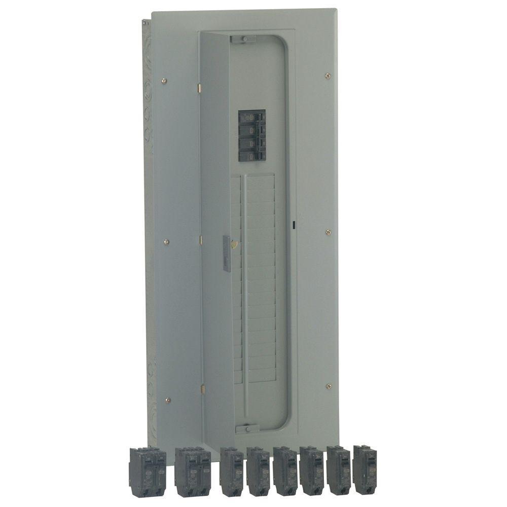 PowerMark Gold 150 Amp 32-Space 32-Circuit Indoor Main Breaker Value Kit Includes Select Circuit Breaker