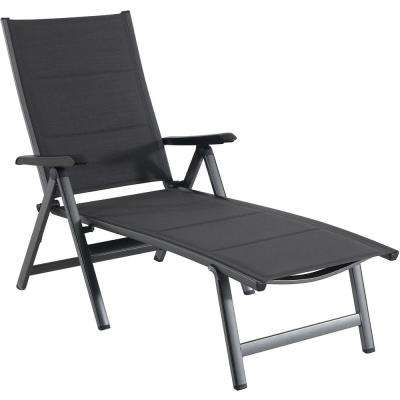 Regis Gray Padded Sling Outdoor Chaise Lounge