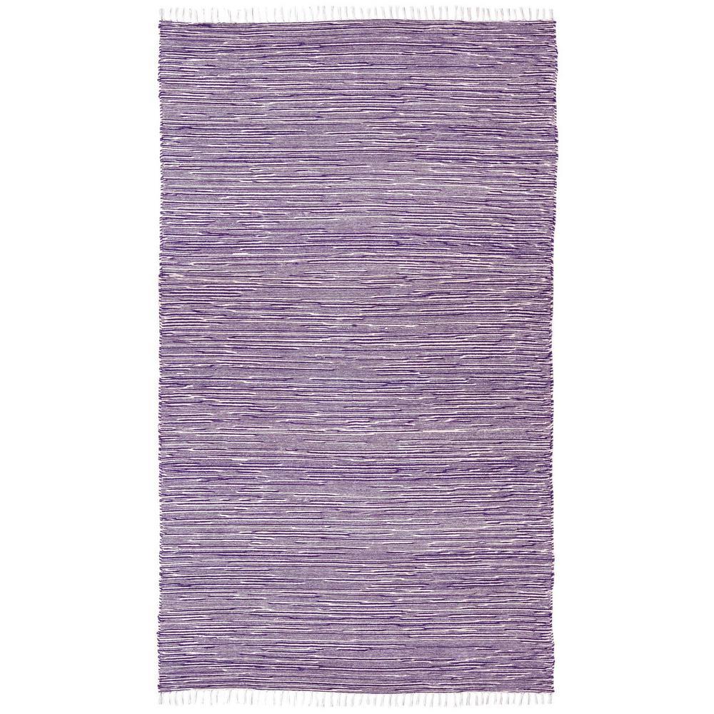 Purple Chenille 10 ft. x 14 ft. Area Rug