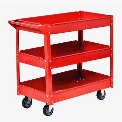 32 in. Steel Utility Cart in Red