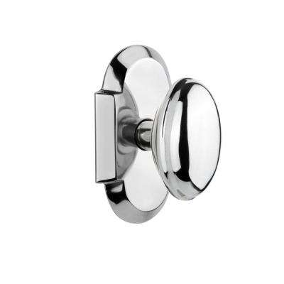 Cottage Plate 2-3/4 in. Backset Bright Chrome Passage Homestead Door Knob