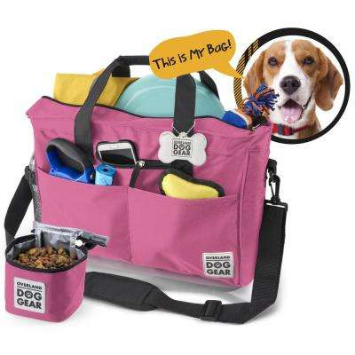 Day Away for All Size Dogs Polyester Accessory Tote in Pink