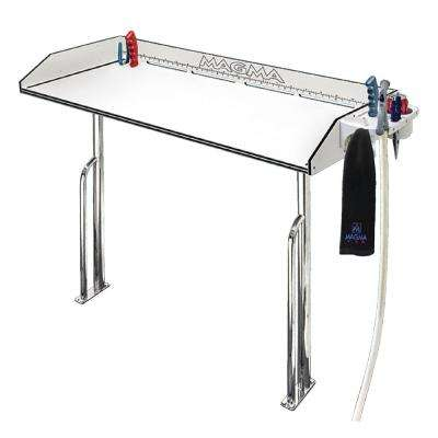 48 in. Hdp Tourament Series Cleaning Station With Stainless Steel Base