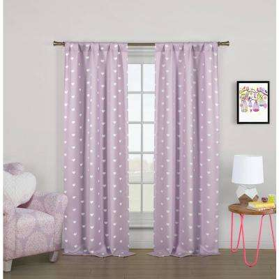 Kelly Lilac Blackout Pole Top Panel Pair - 37 in. W x 84 in. L (2-Piece)