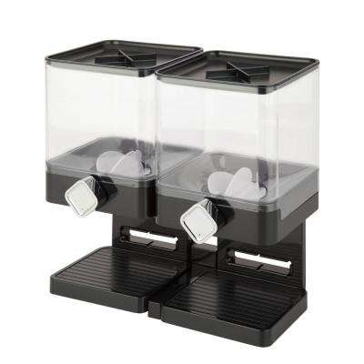 Compact Edition Double Dry Food Dispenser in Black