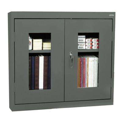 26 in. H x 30 in. W x 12 in. D Clear View Wall Cabinet in Charcoal