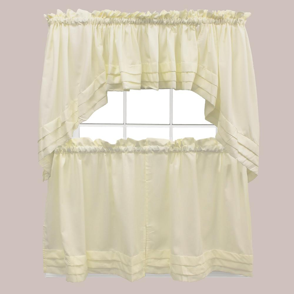 Saturday Knight Holden 13 in. L Polyester Valance in Natural