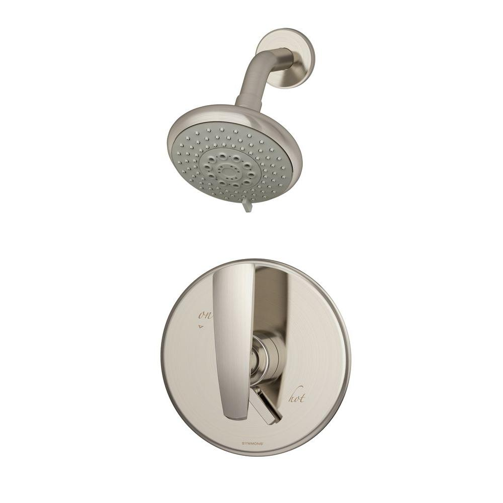 Symmons Naru 1-Handle Shower Faucet Only in Satin Nickel