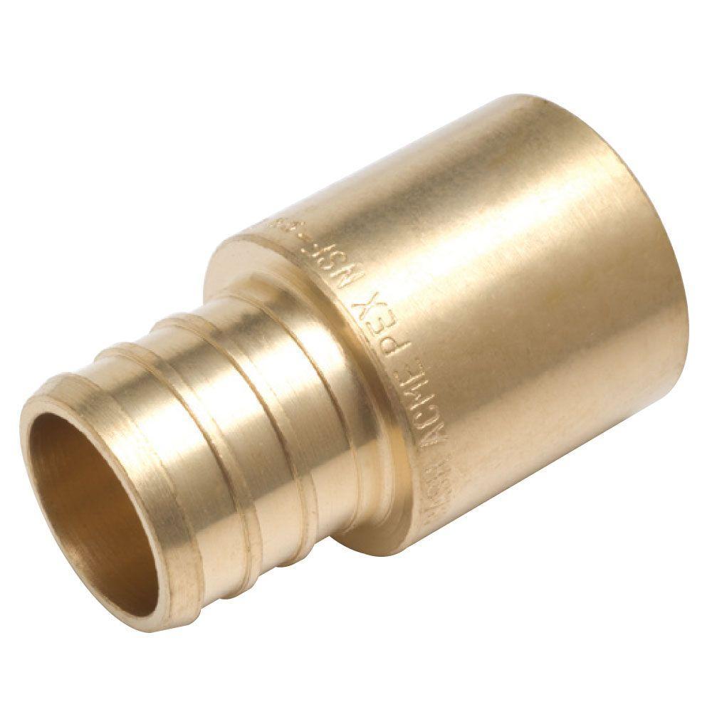 Sharkbite 1 2 in brass pex barb x male copper sweat for Copper pipe to pex fitting