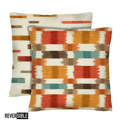 Barnaby 18 in. x 18 in. Spice Decorative Pillow (2-Pack)